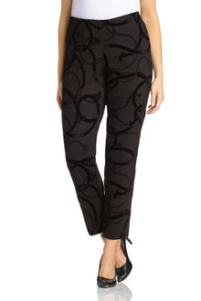 Plus Size - Sara Flocked Ponte Pant