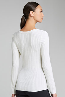 Capture Crew Neck Ribbed Knit