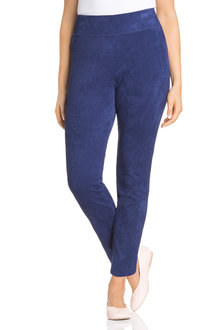 Plus Size - Sara Faux Suede Pull On Pant