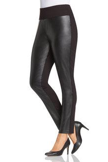 Plus Size - Sara Ponte PU Pant
