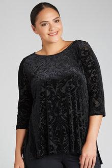 Plus Size - Sara Burnout Tunic