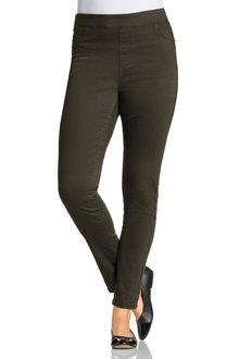Plus Size - Sara Pull On Cotton Stretch Pants