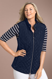 Plus Size - Quilted Vest