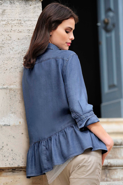 Euro Edit Frill Back Shirt