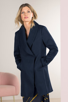 Grace Hill Shawl Collar Coat