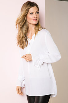 Grace Hill Ruffle Cuff Shirt