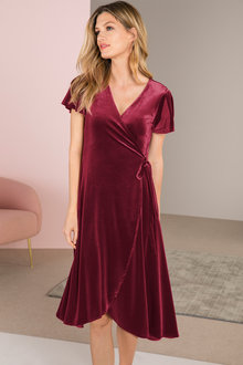 Grace Hill Wrap Dress With Tie