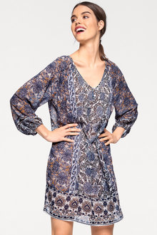 Heine V Neck Printed Dress - 195463