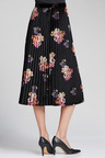 Grace Hill Printed Velvet Skirt