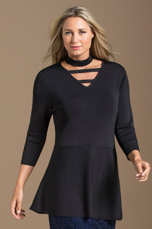 Plus Size - Choker Sweater
