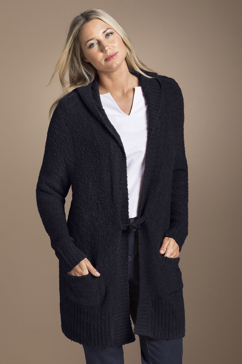 Plus Size - Sara Poodle Hooded Cardigan