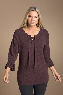 Plus Size - Eyelet sweater