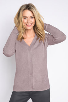Emerge V Neck Metallic Cardigan