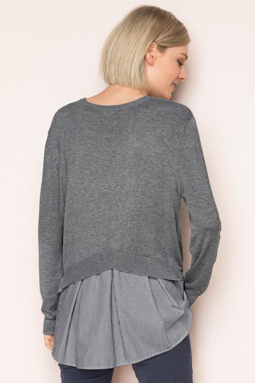 Emerge Shirt Tail Sweater