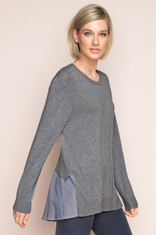 Emerge Shirt Tail Sweater