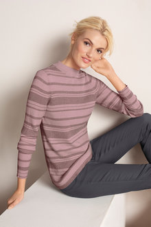 Emerge Metallic Stripe Sweater