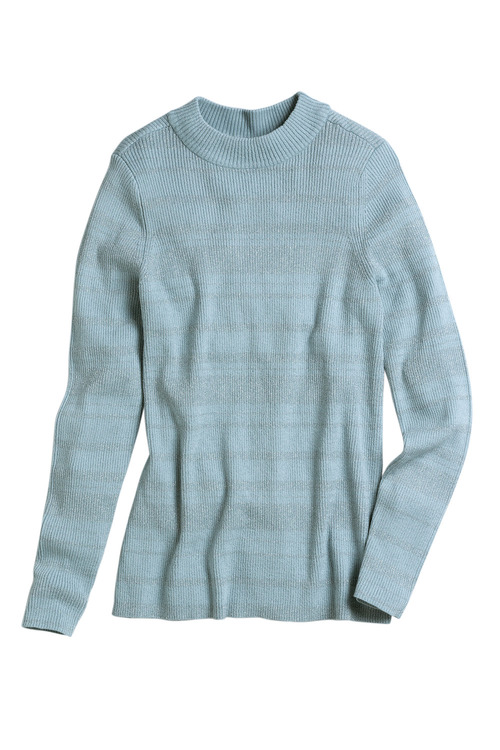 Emerge Metallic Stripe Sweater