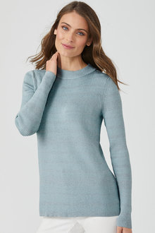 Emerge Metallic Stripe Sweater - 195498