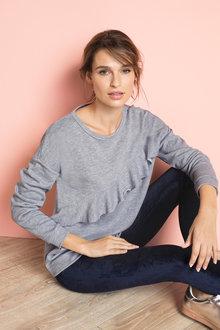 Emerge Ruffle Front Sweatshirt