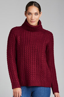 Grace Hill Cable Knit Sweater