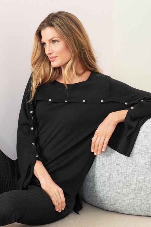 Grace Hill Stud Detail Sweater