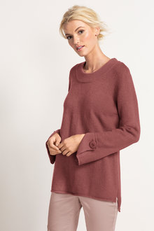 Emerge Button Cuff Sweater