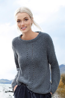 Crew neck chenille knit