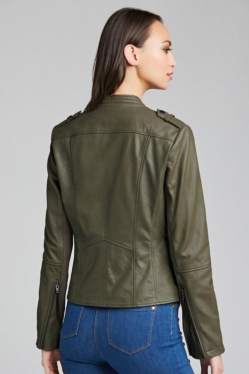 Emerge Leather Biker Jacket