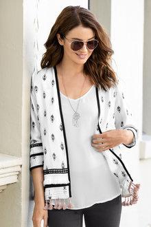 Capture Embellished Tassel Kimono