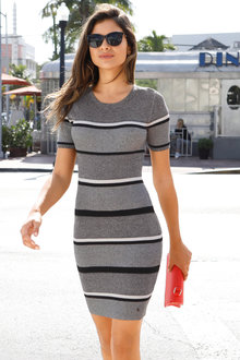 Urban Stripe Knit Dress
