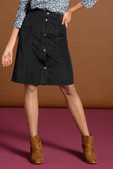 Capture Cord Button Skirt - 195574
