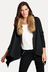 Heine Faux Fur Trim Cardigan