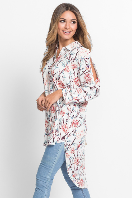 Urban Blossom Longline Shirt