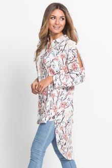 Urban Blossom Longline Shirt - 195601
