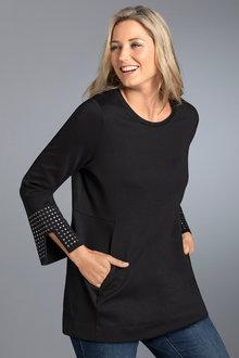 Plus Size - Sara Stud Detail Tunic