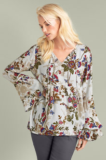 Emerge Ruffle Sleeve Blouse