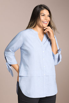 Plus Size - Sara Sleeve Detail Shirt