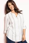 Plus Size - Sara Mandarin Shirt