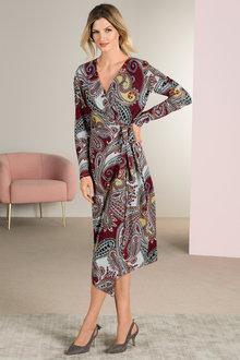 Grace Hill Knit Wrap Dress