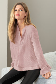 Grace Hill Ruffle Sleeve Swing Top