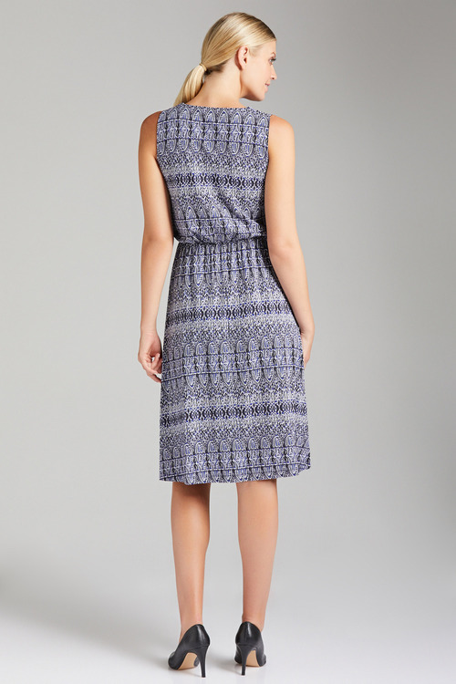 Together Printed Dress with Key Hole