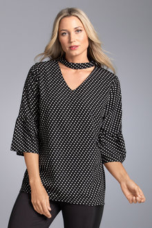 Plus Size - Sara Choker Top