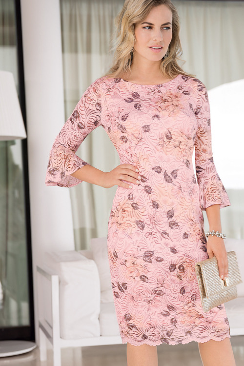 Together Printed Lace Dress
