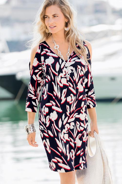Together Split Sleeve Tunic Dress