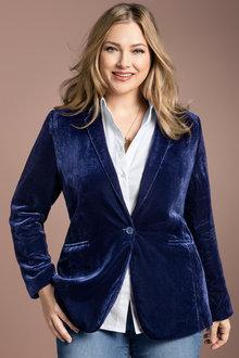 Plus Size - Sara Velvet Blazer