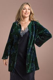 Plus Size - Sara Statement Velvet Jacket