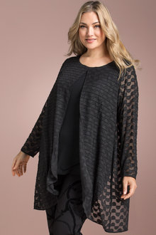 Plus Size - Sara Burnout Trapeze Tunic