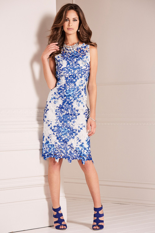Kaleidoscope Printed Lace Dress