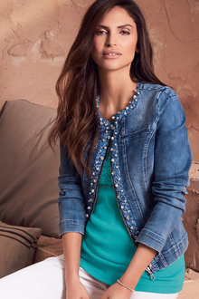 Kaleidoscope Beaded Denim Jacket