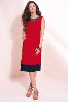 Kaleidoscope Linen Mix Dress